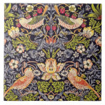 """William Morris Strawberry Thief Floral Art Nouveau Ceramic Tile<br><div class=""""desc"""">William Morris Strawberry Thief Floral Art Nouveau Watercolor Painting Strawberry Thief is one of William Morris's most popular repeating designs for textiles. It takes as its subject the thrushes that Morris found stealing fruit in his kitchen garden of his countryside home, Kelmscott Manor, in Oxfordshire. William Morris was an English...</div>"""