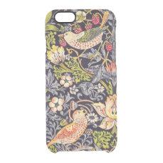 William Morris Strawberry Thief Floral Art Nouveau Clear iPhone 6/6S Case