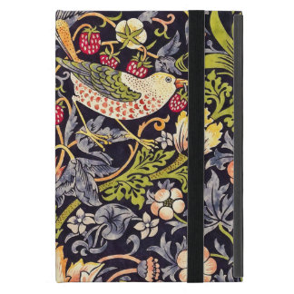 William Morris Strawberry Thief Floral Art Nouveau Cover For iPad Mini