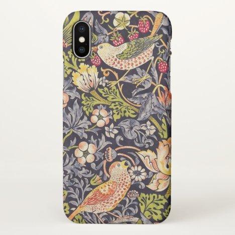 William Morris Strawberry Thief Floral Art Nouveau iPhone X Case