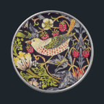 """William Morris Strawberry Thief Floral Art Nouveau Jelly Belly Candy Tin<br><div class=""""desc"""">William Morris Strawberry Thief Floral Art Nouveau Watercolor Painting Strawberry Thief is one of William Morris's most popular repeating designs for textiles. It takes as its subject the thrushes that Morris found stealing fruit in his kitchen garden of his countryside home, Kelmscott Manor, in Oxfordshire. William Morris was an English...</div>"""