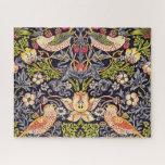 "William Morris Strawberry Thief Floral Art Nouveau Jigsaw Puzzle<br><div class=""desc"">William Morris Strawberry Thief Floral Art Nouveau Watercolor Painting Strawberry Thief is one of William Morris"