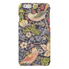 William Morris Strawberry Thief Floral Art Nouveau Matte iPhone 6 Case