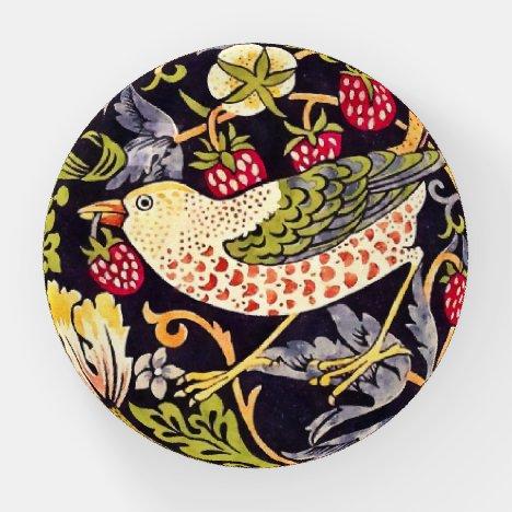 William Morris Strawberry Thief Floral Art Nouveau Paperweight