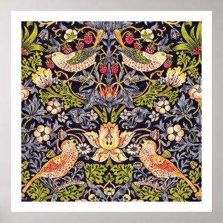 William Morris Strawberry Thief Floral Art Nouveau Poster