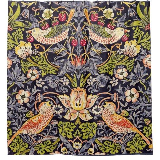 William Morris Strawberry Thief Floral Art Nouveau Shower Curtain