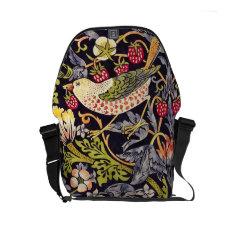 William Morris Strawberry Thief Floral Art Nouveau Small Messenger Bag
