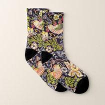 William Morris Strawberry Thief Floral Art Nouveau Socks