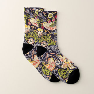 William Morris Strawberry Thief Floral Art Nouveau Socks