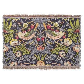 William Morris Strawberry Thief Floral Art Nouveau Throw