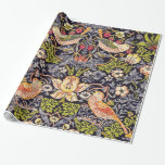 William Morris Strawberry Thief Floral Art Nouveau Wrapping Paper at Zazzle