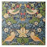 "William Morris Strawberry Thief Floral Pattern Ceramic Tile<br><div class=""desc"">William Morris Strawberry Thief Floral Pattern Pattern Ceramic Tile</div>"