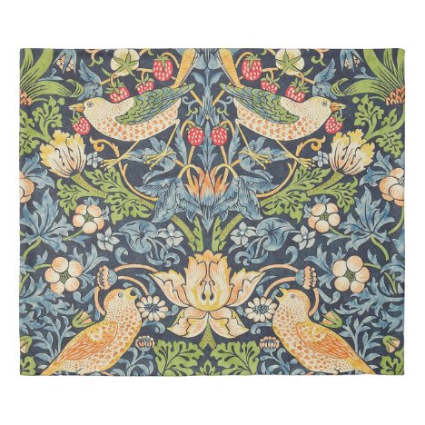 William Morris Strawberry Thief Floral Pattern Duvet Cover