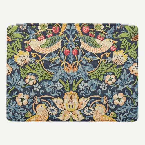 William Morris Strawberry Thief Floral Pattern iPad Pro Cover