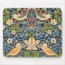 William Morris Strawberry Thief Floral Pattern Mouse Pad