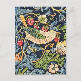 William Morris Strawberry Thief Floral Pattern Postcard