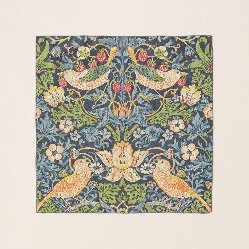 William Morris Strawberry Thief Floral Pattern Scarf