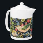 "William Morris Strawberry Thief Floral Pattern Teapot<br><div class=""desc"">William Morris Strawberry Thief Floral Pattern</div>"