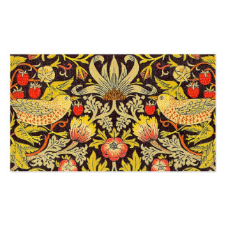 William Morris Strawberry Thief Pattern Business Card