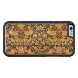 William Morris Strawberry Thief Pattern Carved® Maple iPhone 6 Bumper
