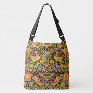 William Morris Strawberry Thief Pattern Crossbody Bag