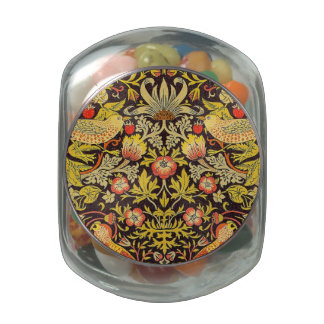 William Morris Strawberry Thief Pattern Jelly Belly Candy Jars
