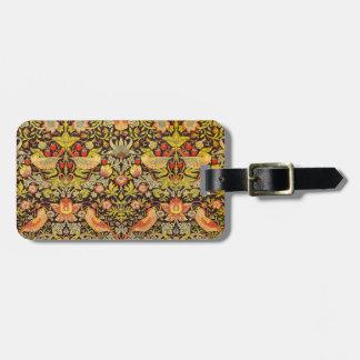 William Morris Strawberry Thief Pattern Bag Tags