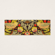 William Morris Strawberry Thief Pattern Mini Business Card at Zazzle