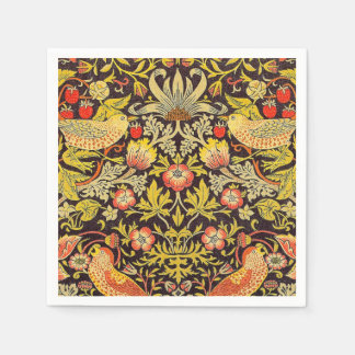 William Morris Strawberry Thief Pattern Napkin