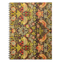 William Morris Strawberry Thief Pattern Notebook