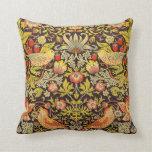 William Morris Strawberry Thief Pattern Throw Pillow