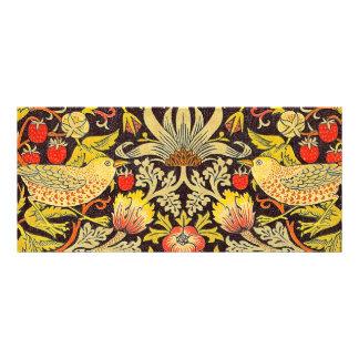 William Morris Strawberry Thief Pattern Rack Card