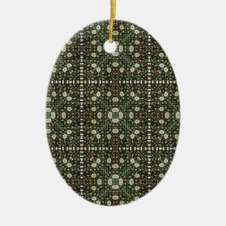 William Morris Style Wallpapered Forestry Pattern Ceramic Ornament