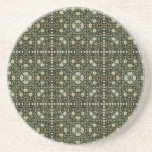 William Morris Style Wallpapered Forestry Pattern Beverage Coasters