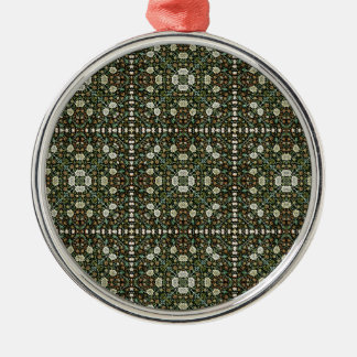 William Morris Style Wallpapered Forestry Pattern Metal Ornament