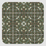 William Morris Style Wallpapered Forestry Pattern Square Stickers