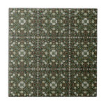 William Morris Style Wallpapered Forestry Pattern Tile