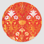 William Morris subió y lirio Etiquetas Redondas