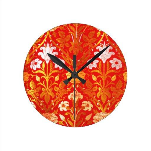 William Morris subió y lirio Reloj Redondo Mediano