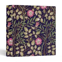 William Morris Sweet Briar Floral Art Nouveau 3 Ring Binder