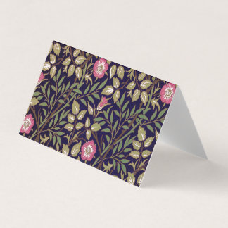 William Morris Sweet Briar Floral Art Nouveau Business Card