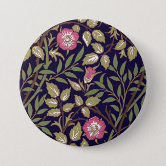 William Morris Sweet Briar Floral Art Nouveau Button