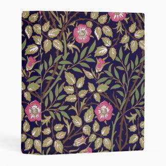 William Morris Sweet Briar Floral Art Nouveau Mini Binder