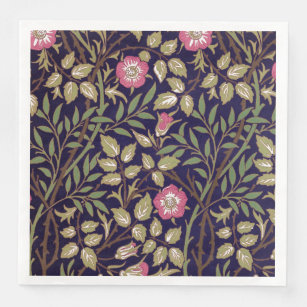 - William Morris Woodblock by chantal/_pare Floral Dinner Napkins Botanical  Victorian Spring Decor Cloth Napkins by Spoonflower Set of 2
