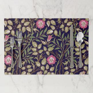William Morris Sweet Briar Floral Art Nouveau Paper Placemat