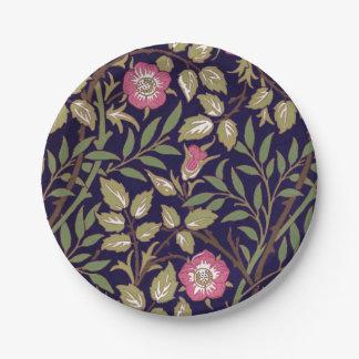 William Morris Sweet Briar Floral Art Nouveau Paper Plate
