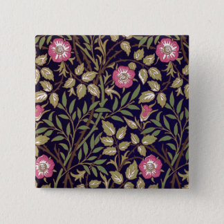 William Morris Sweet Briar Floral Art Nouveau Pinback Button