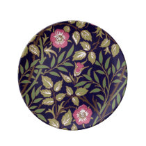 William Morris Sweet Briar Floral Art Nouveau Porcelain Plate
