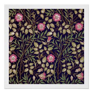 William Morris Sweet Briar Floral Art Nouveau Poster