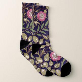 William Morris Sweet Briar Floral Art Nouveau Socks